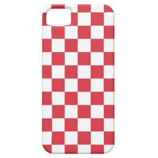 Checkerboard iPhone 5 Case in Poppy Red