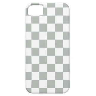 Checkerboard iPhone 5 Case in Silver Gray