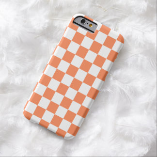 Checkerboard iPhone 6 case in Nectarine Orange
