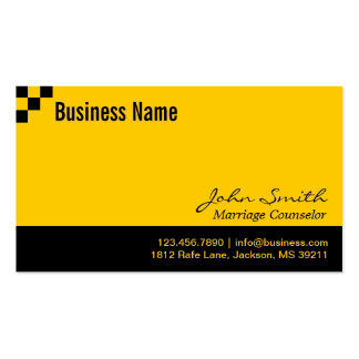 Checkerboard Marriage Counseling Business Card