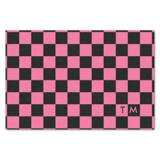 Checkerboard Monogram Pink/Black CMXR Tissue Paper