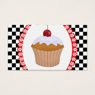 Checkerboard Muffin  Bakery Business Card