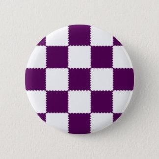 checkerboard  pattern 2 inch round button