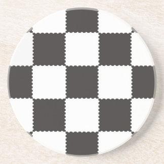 checkerboard pattern coaster