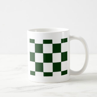checkerboard pattern coffee mug