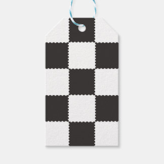 checkerboard pattern gift tags