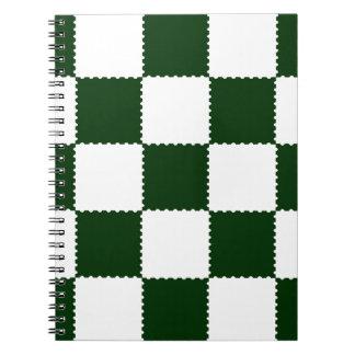 checkerboard pattern notebook