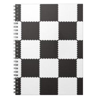 checkerboard pattern notebooks