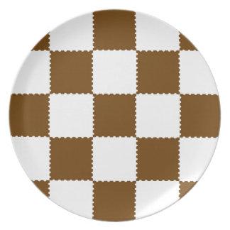 checkerboard pattern plate