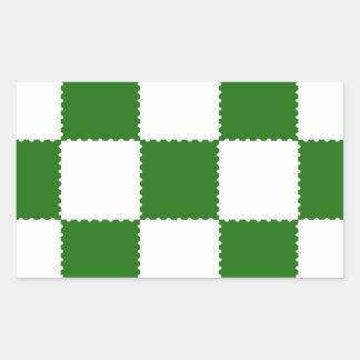 checkerboard pattern sticker