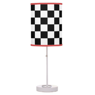 Checkerboard Pattern Table Lamp