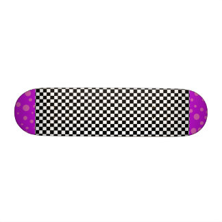 Checkerboard Pink Polka Dots Girls Skateboard