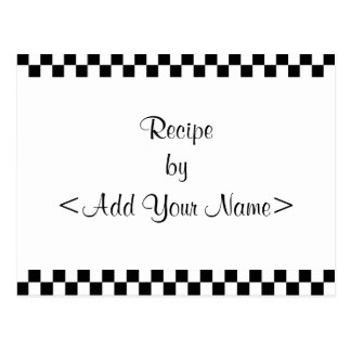 Checkerboard Recipe Cards 4 x 6