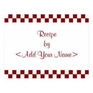 Checkerboard Recipe Cards 4 x 6