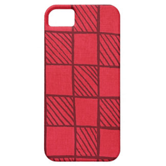 Checkerboard (red) iPhone 5 cases