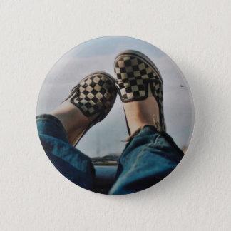 Checkerboard Vans Button
