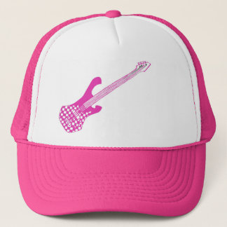 Checkered Bass Hat-Pink Trucker Hat