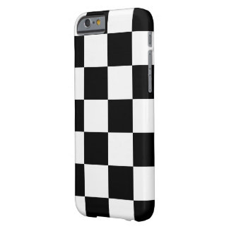 Checkered Black and White Barely There iPhone 6 Case
