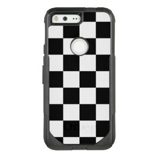 Checkered Black and White Pattern OtterBox Commuter Google Pixel Case