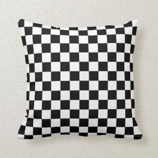 Checkered: Black and White Throw Pillow