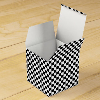 Checkered Black-white-Square Favor Box