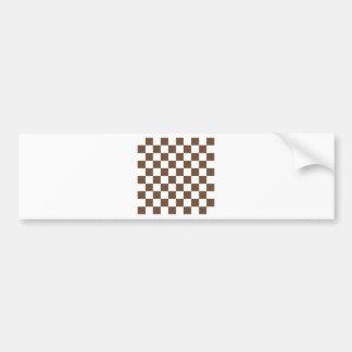 Checkered - blanc et café autocollant de voiture