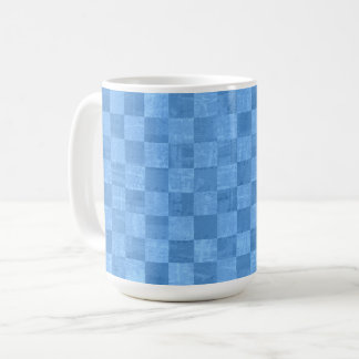 Checkered Blue 15 oz Mug