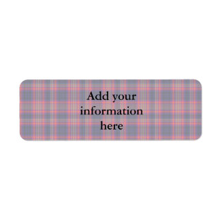 Checkered Blue and Red Return Address Label