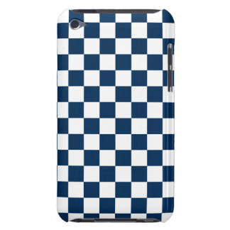 Checkered Blue and White Case-Mate iPod Touch Case