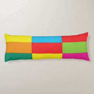 Checkered Brushed Polyester Body Pillow