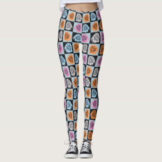 Checkered Cats Leggings