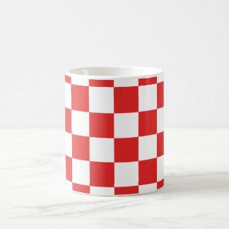 checkered, checked, squared coffee mug