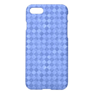 Checkered Cobalt Blue Matte iPhone 7 Case
