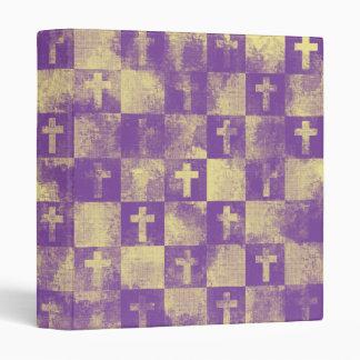 Checkered Crosses Vinyl Binder
