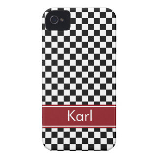 Checkered Custom iPhone 4 Case