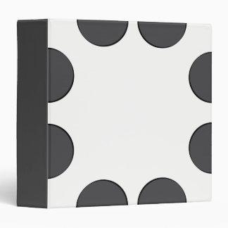 Checkered DarkGrey Dots 3 Ring Binder