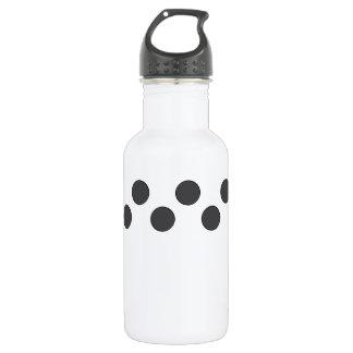 Checkered DarkGrey Dots 532 Ml Water Bottle