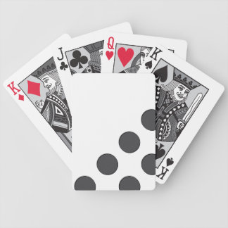 Checkered DarkGrey Dots Bicycle Playing Cards