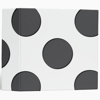 Checkered DarkGrey Dots Binder