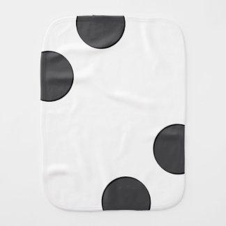Checkered DarkGrey Dots Burp Cloth