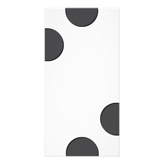 Checkered DarkGrey Dots Card