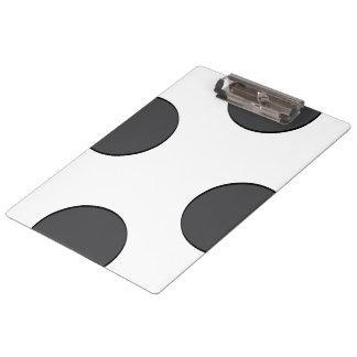 Checkered DarkGrey Dots Clipboard