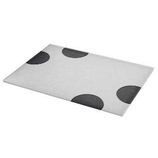 Checkered DarkGrey Dots Cutting Board