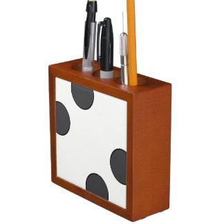 Checkered DarkGrey Dots Desk Organizer