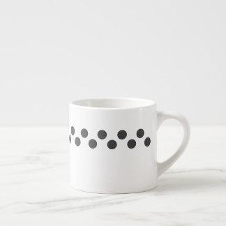 Checkered DarkGrey Dots Espresso Cup