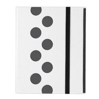 Checkered DarkGrey Dots iPad Case