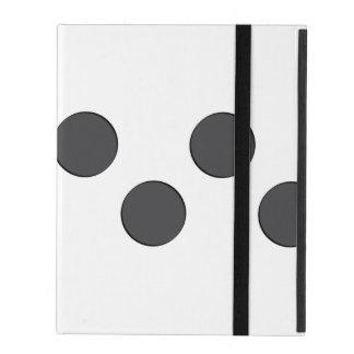 Checkered DarkGrey Dots iPad Folio Case