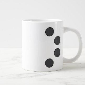 Checkered DarkGrey Dots Large Coffee Mug