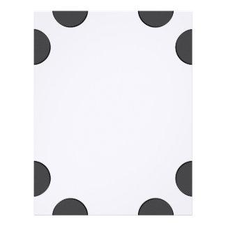 Checkered DarkGrey Dots Letterhead