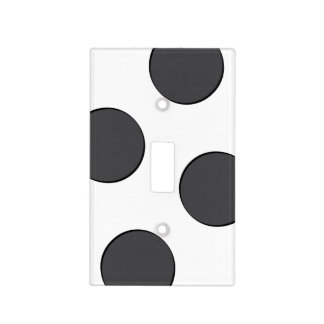 Checkered DarkGrey Dots Light Switch Cover